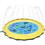 プレイマット 噴水おもちゃ ウォーターマット シャワーおもちゃ プールマット 噴水マット スプリンクラーおもちゃ プレイ アウトドア 芝生遊び 水遊び 親子遊び 夏 庭 家庭用 子供用 キッズ おもちゃ 噴水池 噴水できる