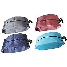 MISSLO Portable Nylon Travel Shoe Bags with Zipper Closure