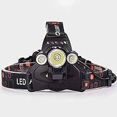 ヘッドライト 高輝度 5000ルーメン LED ヘッドランプ 充電式 防水 耐久 4つ点灯モード ズーム機能 釣り用 自転車 登山 夜間作業 緊急防災 停電 アウトドアに適用 [並行輸入品]