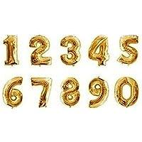 CA Mode(JP) バルーンで装飾 演出 数字 アルミ バルーン 結婚 誕生日 開店のお祝い装飾に 10枚セット 0-9