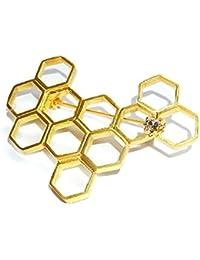 ルチカ ブローチ 『 蜂の巣 』Luccica ハチ レディース 大人 アクセサリー ユニーク おもしろ 人気 虫 かわいい プレゼント 昆虫 モチーフ 鳥 星