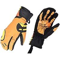 スキーグローブ  スポーツ手袋 スキー手袋 PU合成皮革 防水 防寒 防風 保温 滑り止め 耐摩耗 スキー/登山/バイク/アウトドアなど適用 男女兼用
