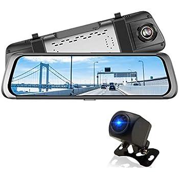 ニコマク NikoMaku ドライブレコーダー AS1 ミラー型 9.88インチ全画面モニター デジタルインナーミラー 前後カメラ録画 wdr 日本語説明書 タッチパネル1080P HD 170度広角 ループ録画 常時録画 衝撃録画 駐車監視