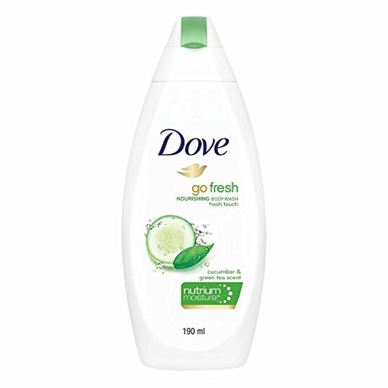 オン鋸歯状写真のDove Go Fresh Nourishing Refreshing Cucumber And Green Tea Body Wash, 190ml