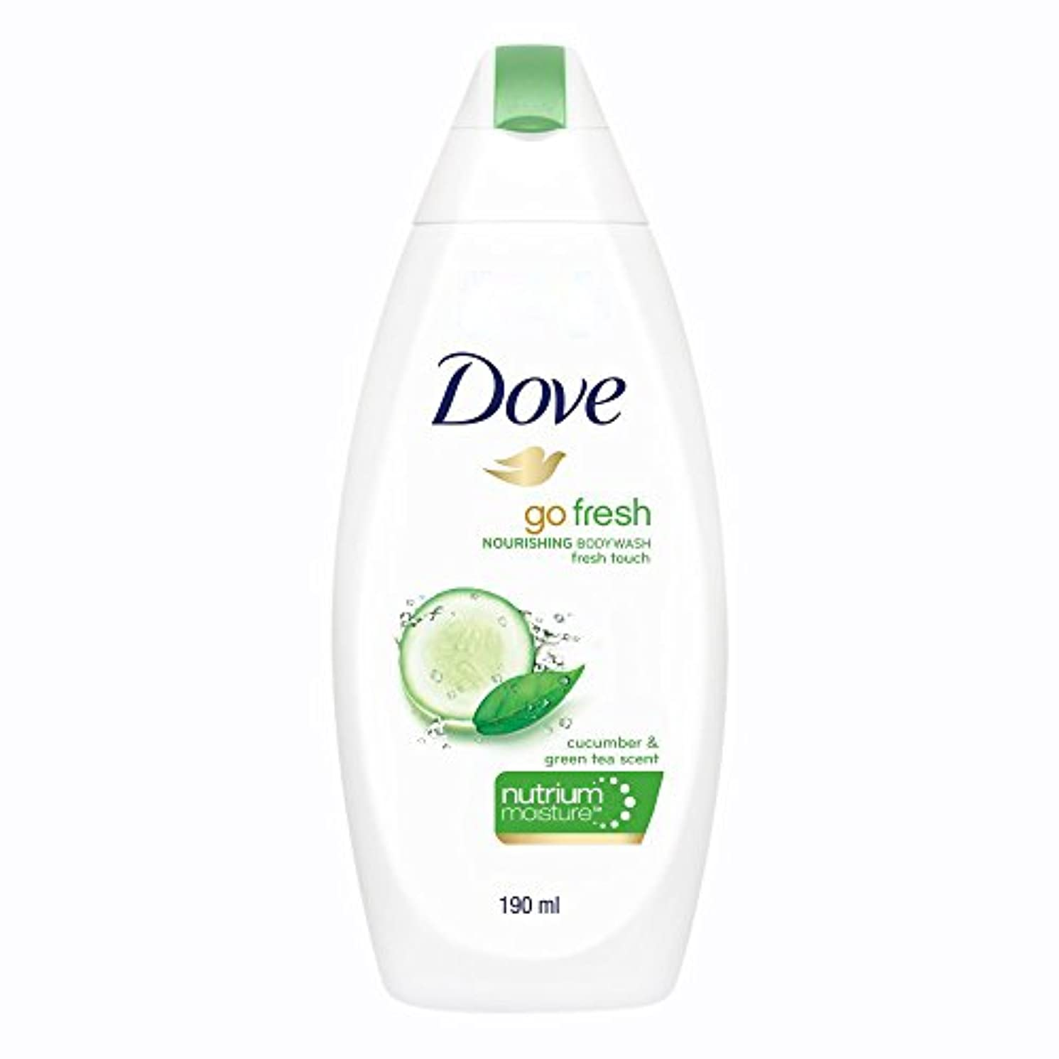 キノコ発音する欺くDove Go Fresh Nourishing Refreshing Cucumber And Green Tea Body Wash, 190ml
