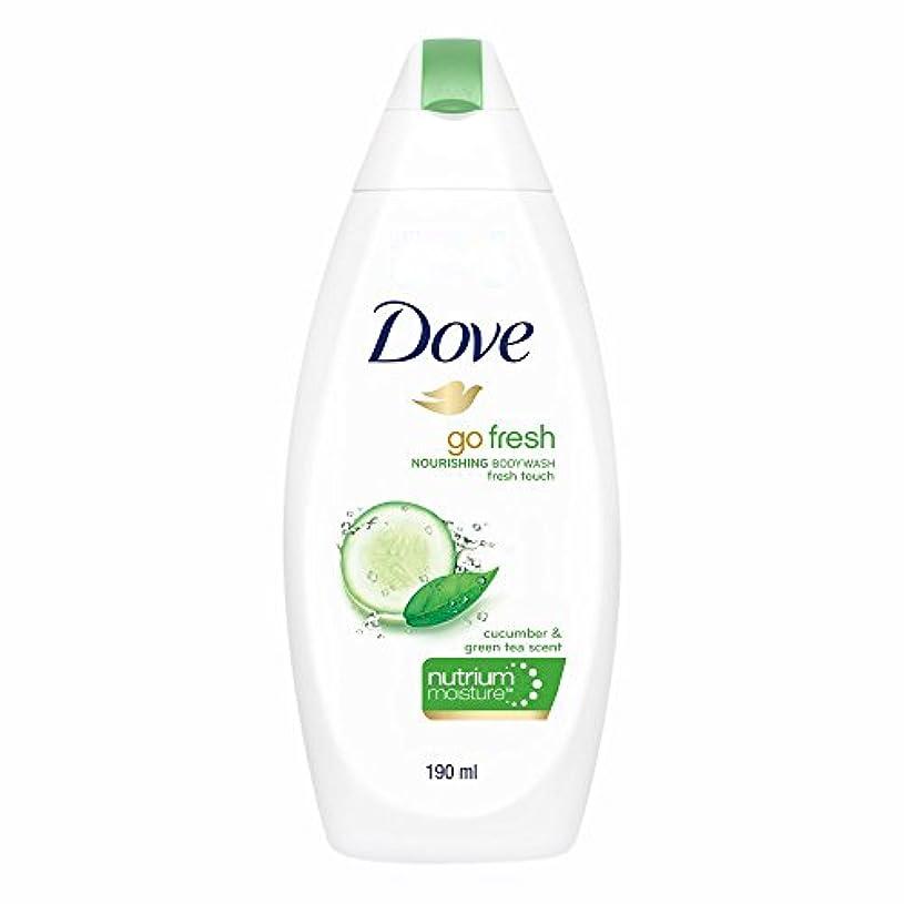 表向きパケット植物学者Dove Go Fresh Nourishing Refreshing Cucumber And Green Tea Body Wash, 190ml