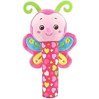 aiweasi Lovelyかわいい赤ちゃんおもちゃ1pcベビー子供クリエイティブHand Toy Soft Plush Rattle教育玩具(バタフライ)