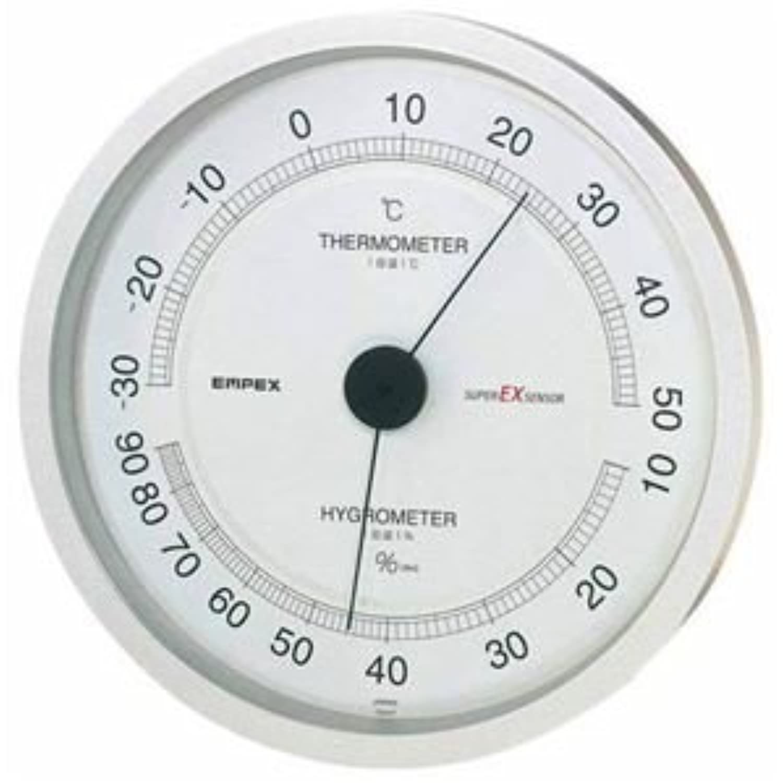 (まとめ) EMPEX 温度?湿度計 スーパーEX高品質 温度?湿度計 壁掛用 EX-2747 シャイ