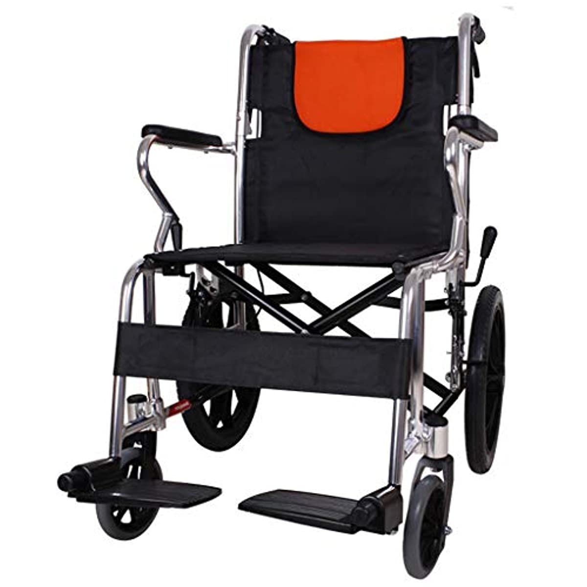 解き明かす世界の窓買うハンドプッシュ車椅子、折りたたみ式、手動プッシュ式歩行装置、成人および障害者用アルミニウム旅行スクーターに適しています