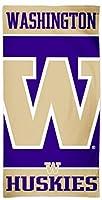 WinCraft Washington HuskiesビーチタオルwithプレミアムSpectraグラフィックス、30x 60cm