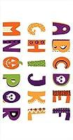 ポスター ウォールステッカー 長方形 シール式ステッカー 飾り 90×47cm Lsize 壁 インテリア おしゃれ 剥がせる wall sticker poster アルファベット かぼちゃ 013000