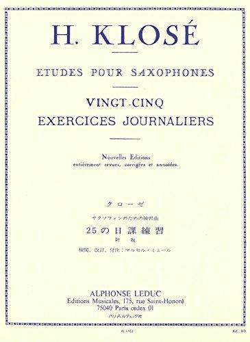 クローゼ : 25の日課練習 (サクソフォン教則本) ルデュック出版