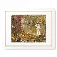 マックス・スレーフォークト Max Slevogt 「Scene from Don Giovanni (Francisco d'Andrade on the forestage). 1901/02」 額装アート作品