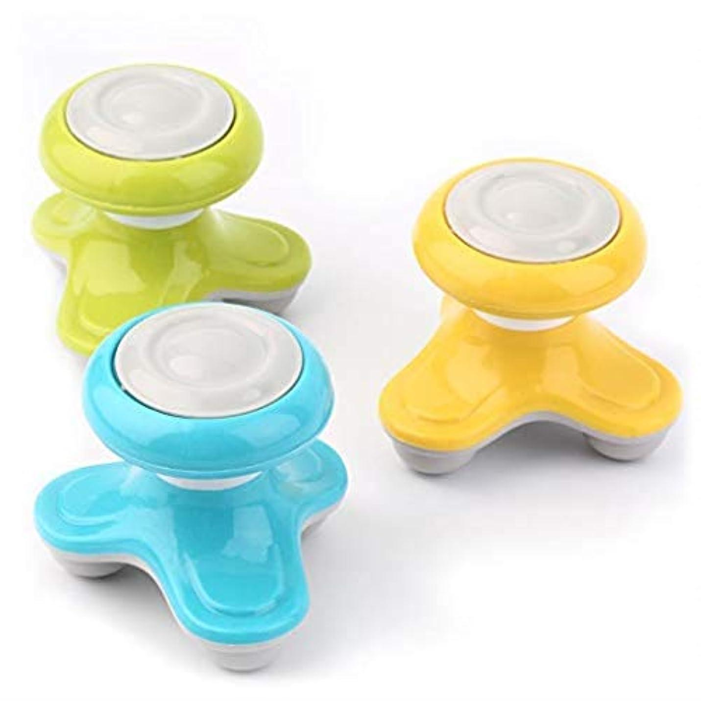裸行くロック解除マッサージャー、ミニ電動ハンドヘルドポータブルマッサージャー、波動振動ヘッドマッサージャー、USB充電およびバッテリー、頭、首、脚、手に適し、体全体で使用可能 (Color : 青)