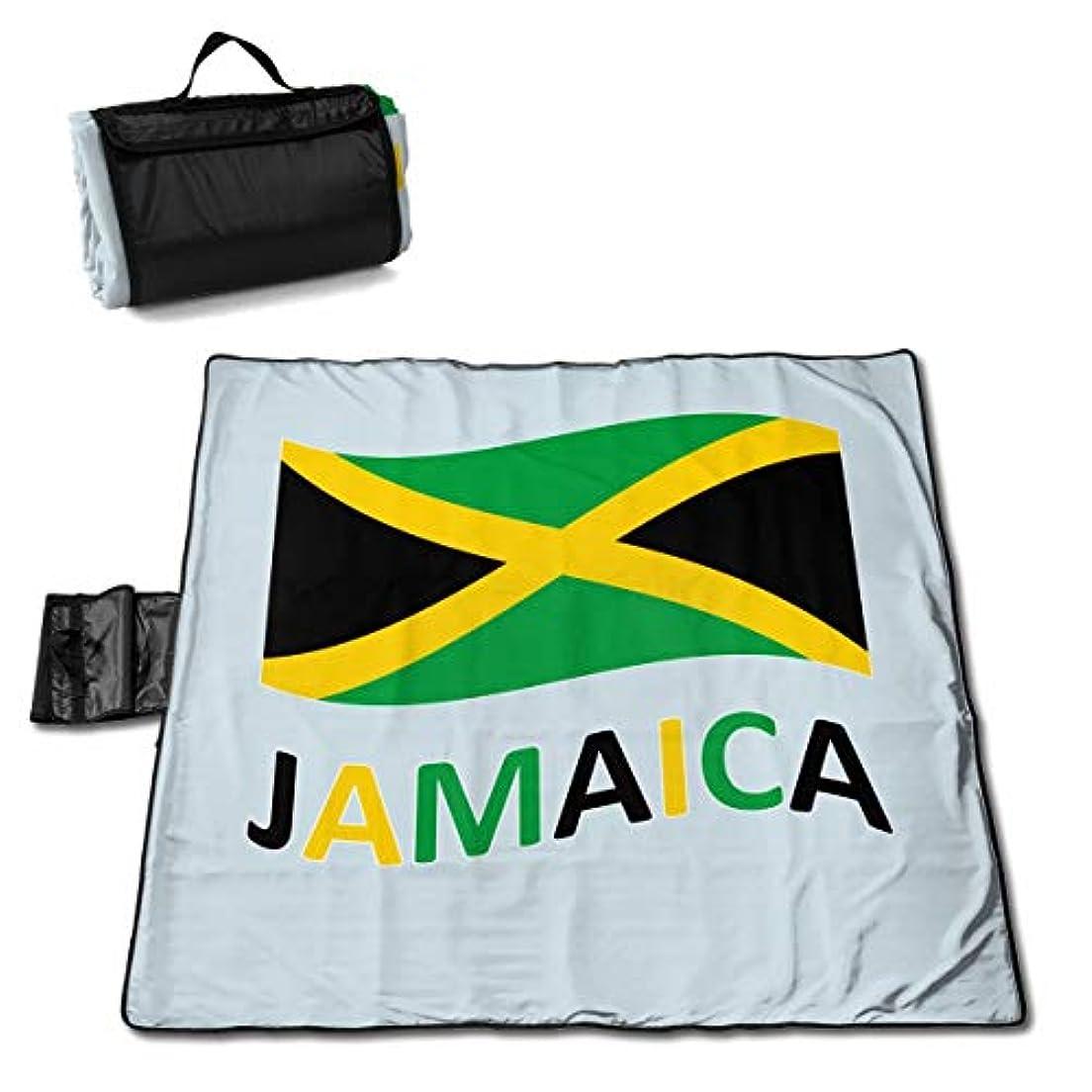 許す甘くする英語の授業がありますジャマイカの国旗 ピクニックマット レジャーシート ファミリー レジャーマット 防水 防潮 マット 折り畳み 持ち運び便利 四季適用び おしゃれ花火大会 運動会 遠足 キャンプ 145×150cm