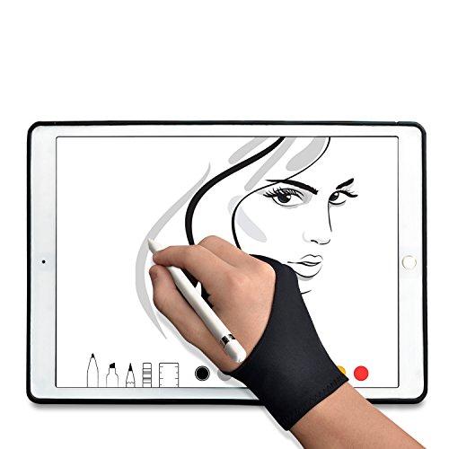 二本指防汚 アーティストグローブ グラフィックスモニター タブレットまたはスケッチ用グローブ– 1 P