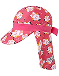 [Vaenait Baby]ベビー 子供水着日焼け予防UVカットフラップキャップ帽子 Flap Cap