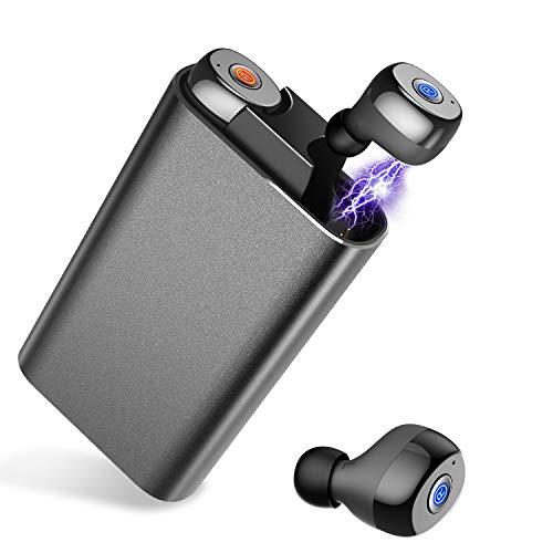 【Bluetooth 5.0強化版】 Bluetooth イヤホン 高音質 IPX7防水 完全 ワイヤレス イヤホン 自動ペアリング 自動ON/OFF ブルートゥース イヤホン 左右分離型 両耳通話 ハンズフリー 充電式収納ケース付 iPhone Android 対応 (ブラック)
