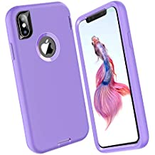 ORIbox Silicone Case for iPhone X/XS, Shockproof Anti-Fall Protective case, Soft-Touch Finish of The Silicone Exterior Feels