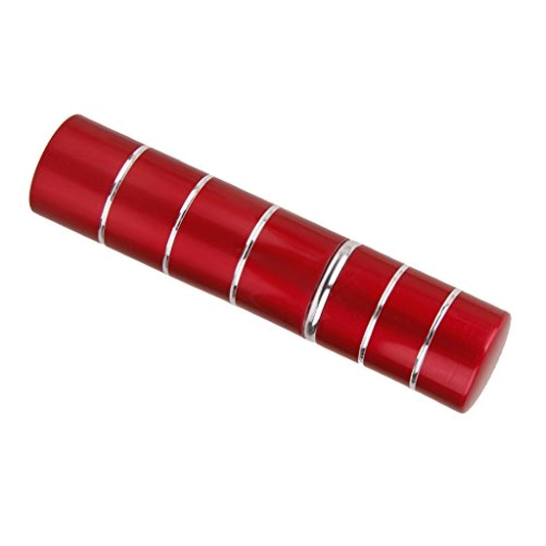女性作曲家ラグDovewill  旅行携帯用 ポータブル 軽量 詰め替え 香水 アトマイザーボトル ポンプ スプレーケース  - レッド