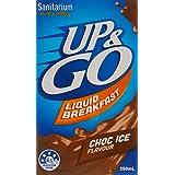 UP&GO 12 Pack Choc Ice Flavour School Liquid Breakfast Drink, 250 Milliliters