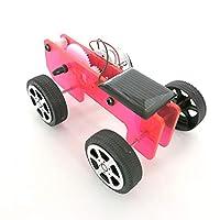 ACHICOO 車のおもちゃ ソーラーパワー アクリルカー Q1 DIY科学キット 物理実験技術 組み立て ギフト 赤い透明