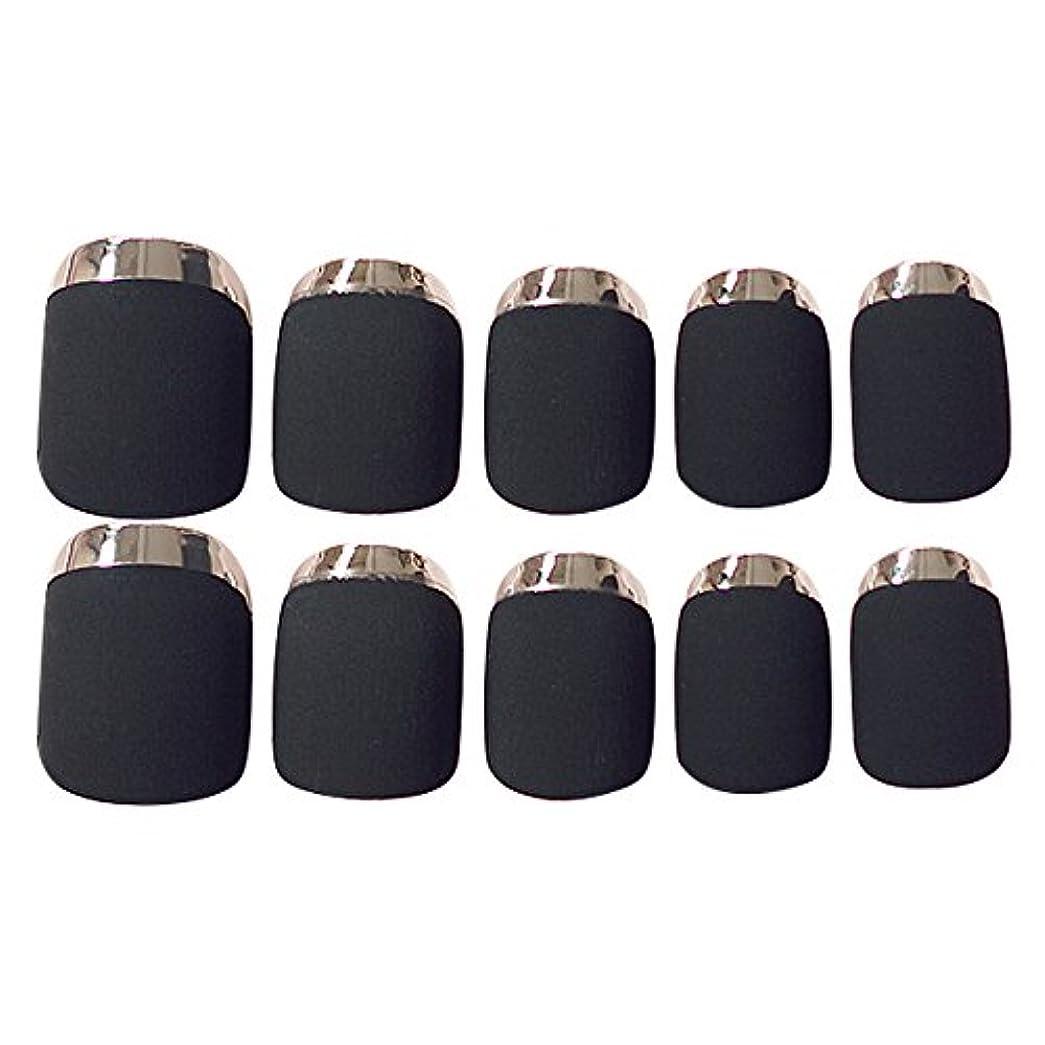 ゴシレ Gosear 24 個 12 サイズ ネイルチップ 人工偽爪のヒント 黑色