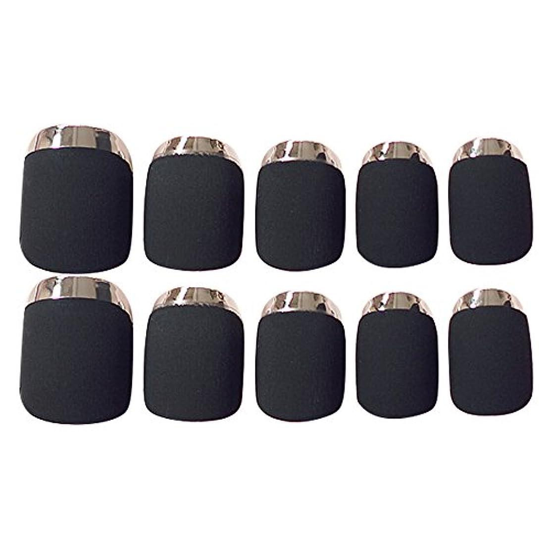 離婚同一のサポートゴシレ Gosear 24 個 12 サイズ ネイルチップ 人工偽爪のヒント 黑色