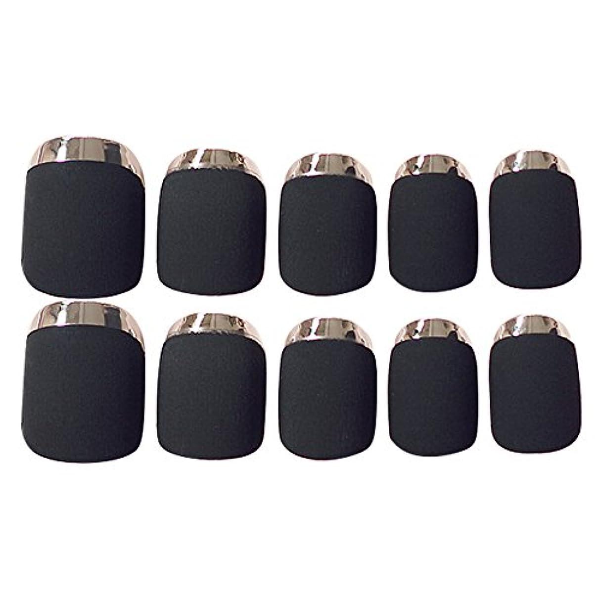 アピール即席ミニチュアゴシレ Gosear 24 個 12 サイズ ネイルチップ 人工偽爪のヒント 黑色