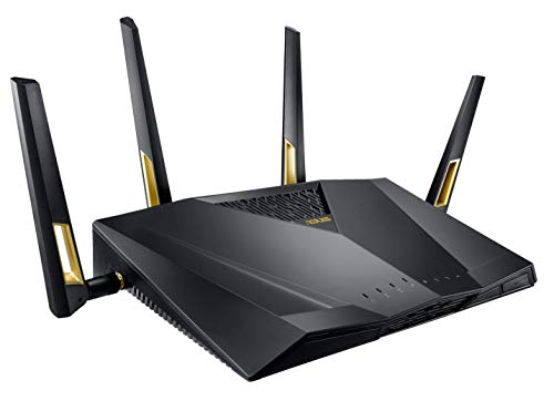 ASUS 次世代の超高速 ゲーミング Wi-Fi ルーター RT-AX88U 11ax デュアルバンド AX6000 4804 + 1148Mbps 【 PS4 / Wii U/iPhone 対応 】