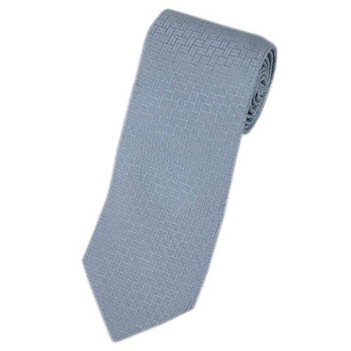 (エルメス)エルメス ネクタイ 030190T HERMES ソルド メンズ ジャガード デザイン H シルク100% ライトグレー