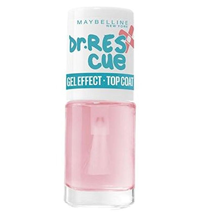 海峡スムーズに統合するメイベリンのDr救助ネイルケアジェルトップコート7ミリリットル (Maybelline) (x2) - Maybelline Dr Rescue Nail Care Gel Top Coat 7ml (Pack of 2...