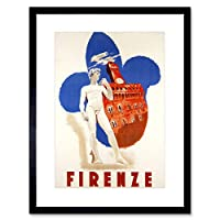 Travel Florence Italy Michelangelo David Uffizi Gallery Framed Wall Art Print 旅行イタリア壁