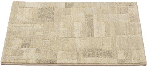 ベルギー製 石目調ウィルトン織玄関マット 60×90cm ベー...