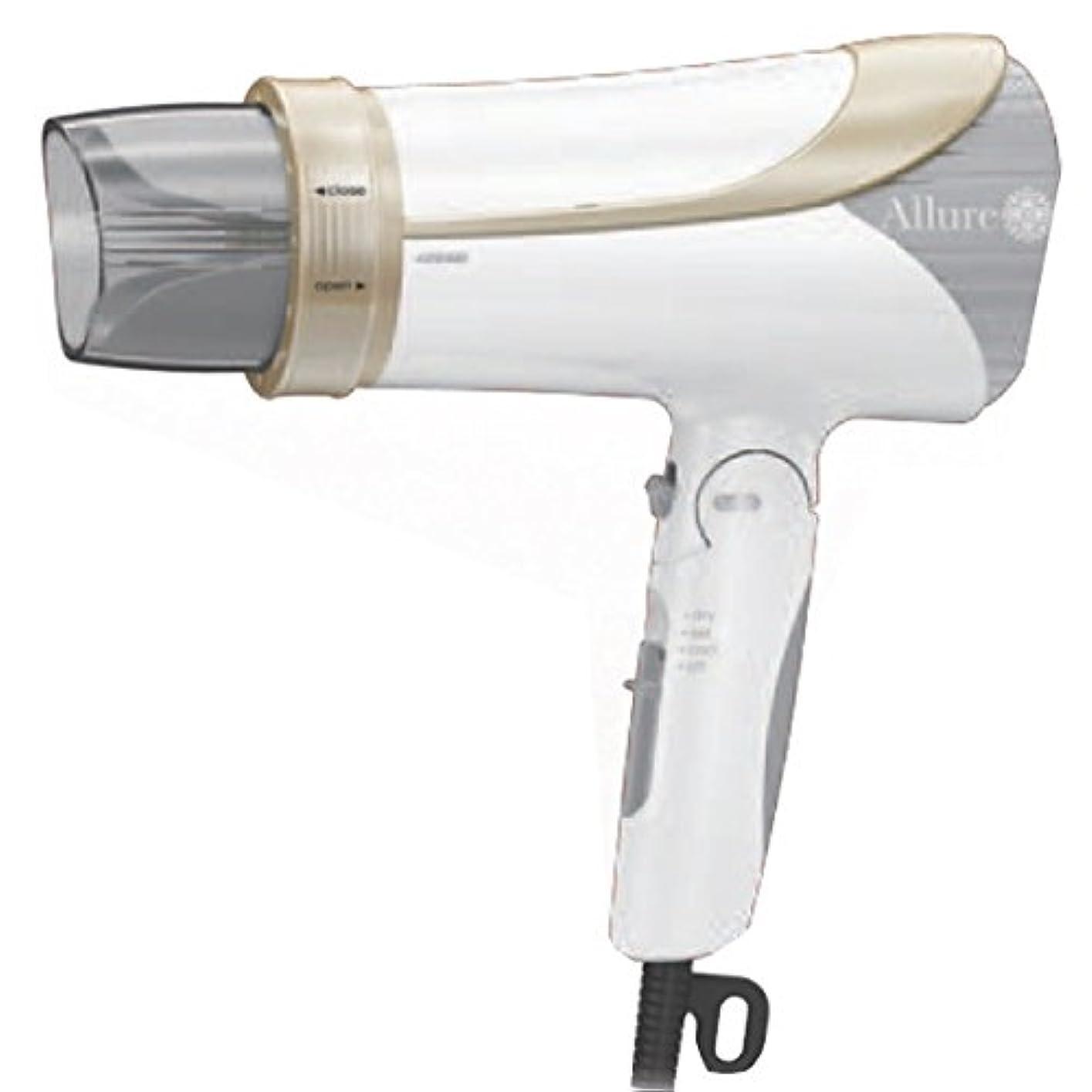 使役満足させるバンIZUMI Allure マイナスイオンヘアードライヤー ホワイト DR-RM75-W