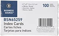 Business Source Ruled White 3 x 5 Index Cards - Pack of 100 (65259) [並行輸入品]