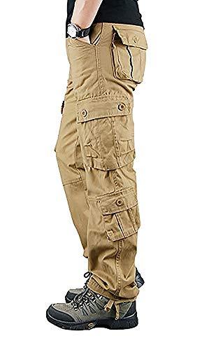 Cityoung メンズ カーゴパンツ 作業着 多機能 ズボン ミリタリー ワークパンツ 6ポケット 8ポケット