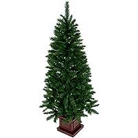 クリスマス屋 クリスマスツリー 150cm 木製ポットツリー スリム グリーン ツリーの木 ヌードツリー