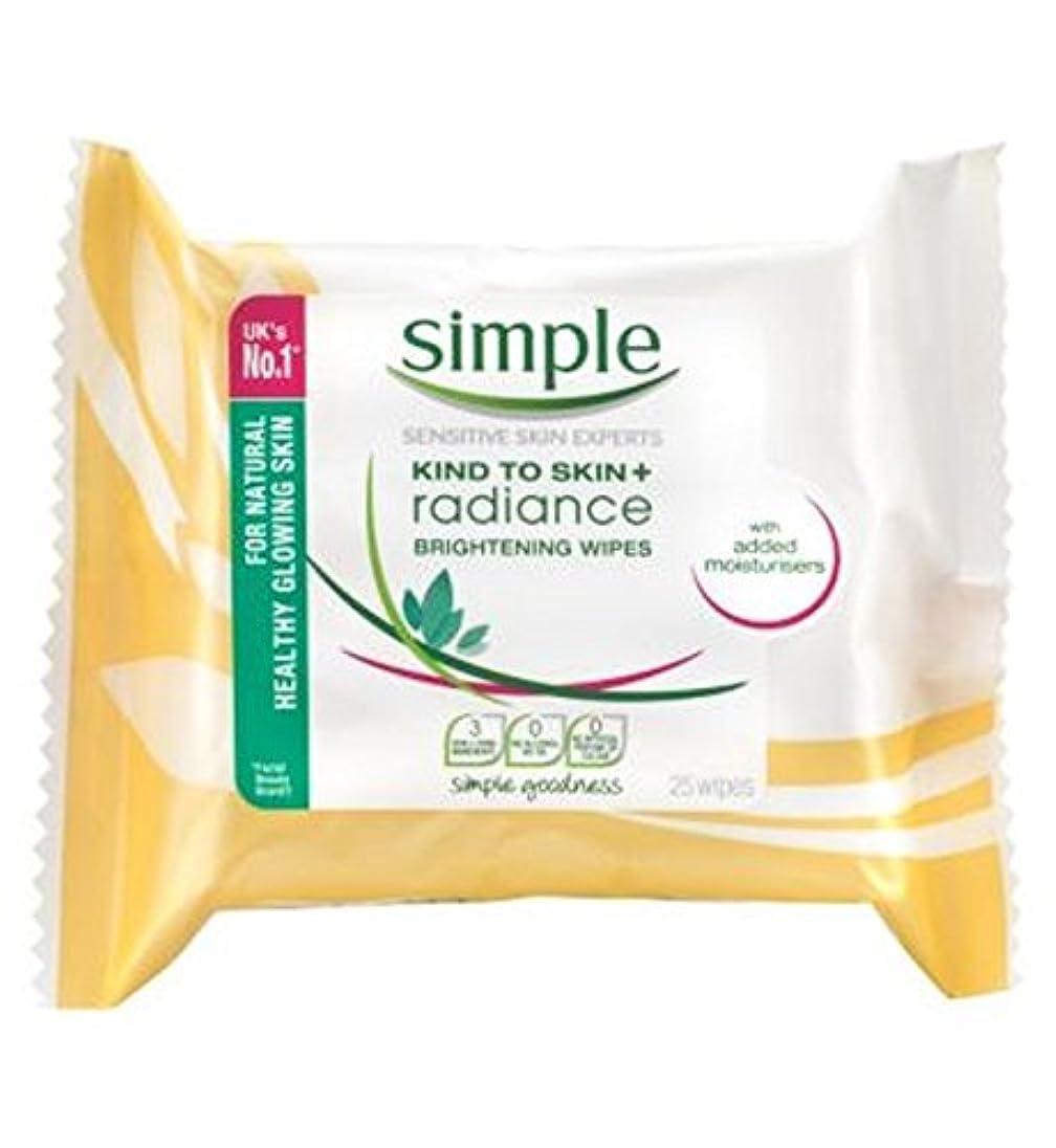 シンプルな輝きの光沢クレンジングは、25秒をワイプ (Simple) (x2) - Simple Radiance Brightening Cleansing Wipes 25s (Pack of 2) [並行輸入品]