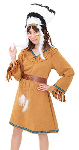ネイチャーインディアン インディアン コスプレハロウィン インディアンハット レディース