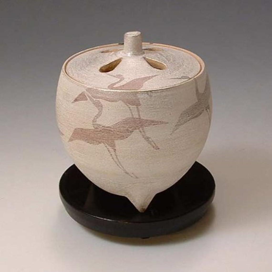 爵バッジ鷲YXI055 清水焼 京焼 豆香炉(黒台付) ギフト 翔鶴 しょうかく