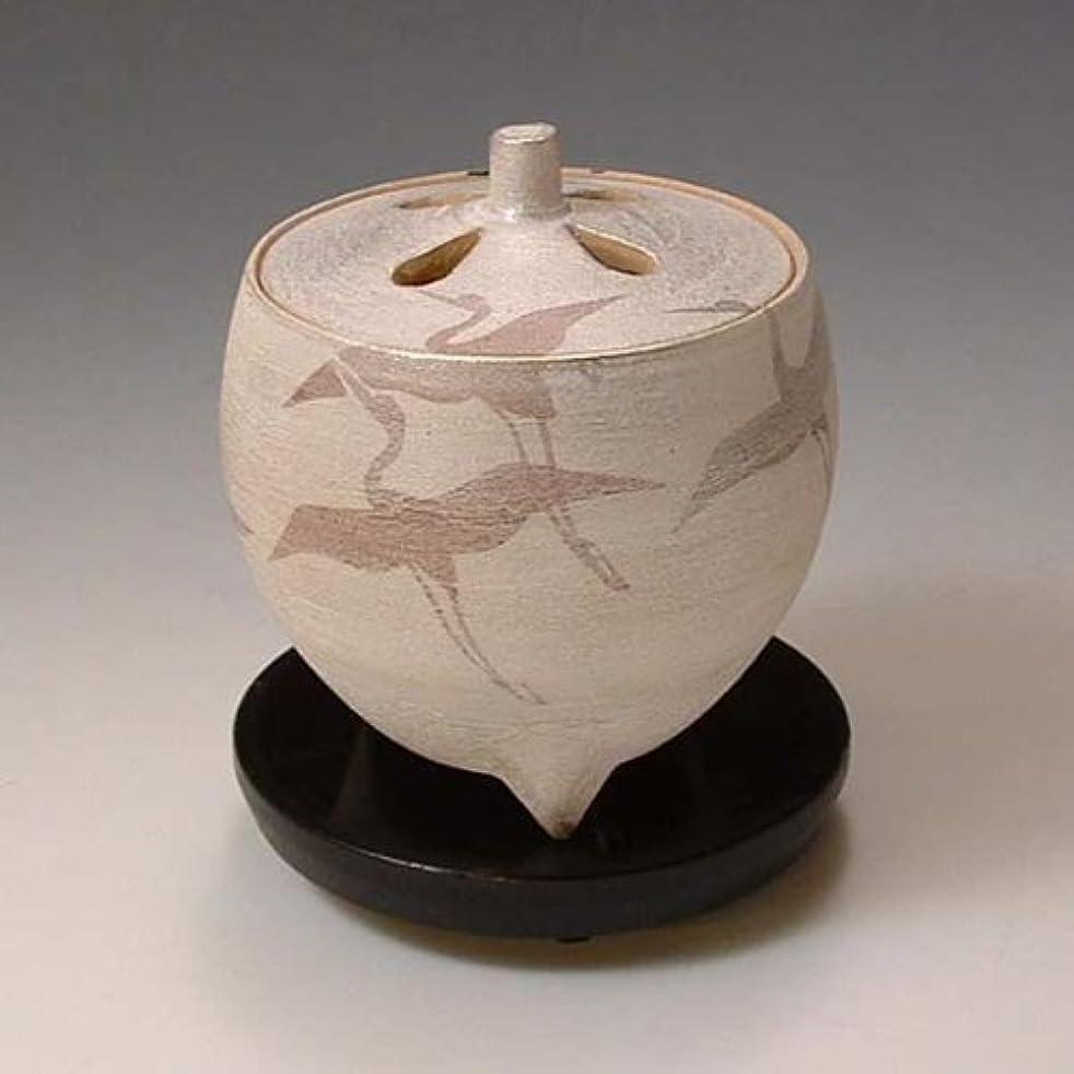 感謝しているくつろぐ朝YXI055 清水焼 京焼 豆香炉(黒台付) ギフト 翔鶴 しょうかく