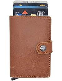 JPAMZCE本物または合成皮革クレジットカードホルダーRFIDブロッキングポップアップウォレットマネークリップ防磁