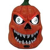 BKOK ランタン パンプキン 奇声 怪物 センサー付き パーティグッズ (1.オレンジ)