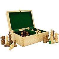 Fierce Knight Sheesham Staunton Chessmen 3 Inches Including Case