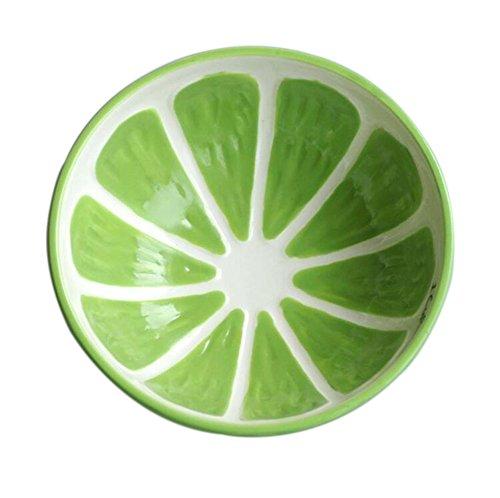 (デマ—クト)De.Markt 可愛 おもしろ 果物形 セラミックス 茶碗 レモン・マスクメロン・スイカ・オレンジ 全4色選べる