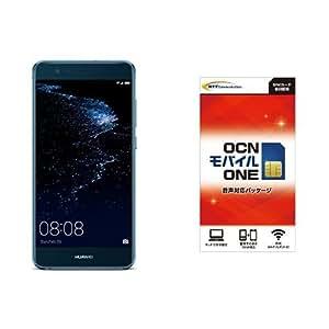 Huawei 5.2型 P10 lite SIMフリースマートフォン サファイアブルー 【日本正規代理店品】 P10 LITE/WAS-L22J/SA& OCN モバイル ONE 音声通話+LTEデータ通信SIMセット