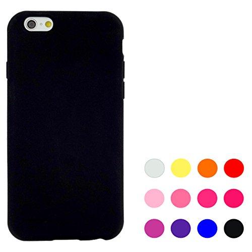 iPhone6s / iPhone6 黒シリコン ケース カ...