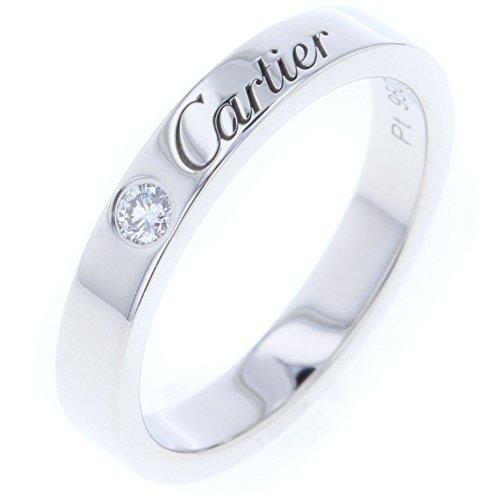 (カルティエ) CARTIER エングレーブド ウエディング 1P リング・指輪 プラチナPT950/ダイヤモンド ダイヤモンド レディース 中古 [PD3]