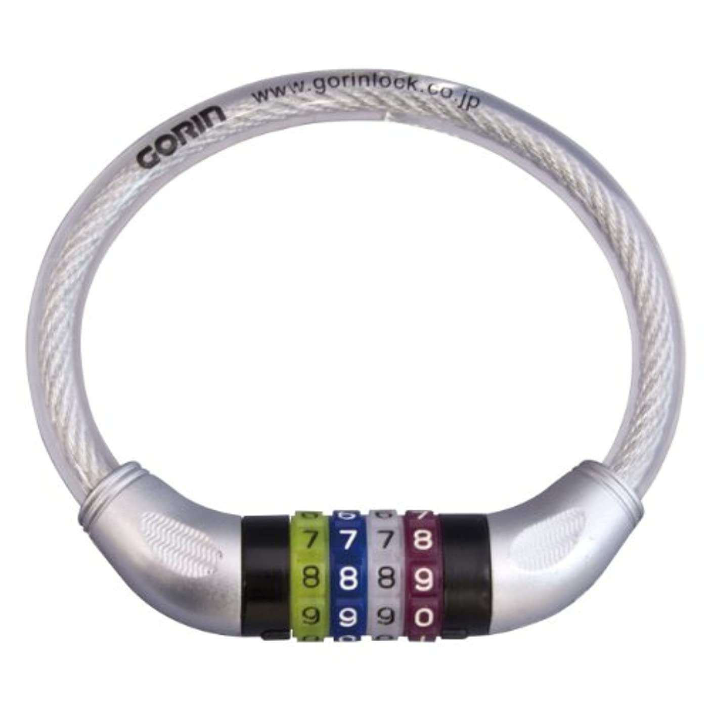 極貧高度合体GORIN(ゴリン) 可変式4連カラーダイヤルワイヤー錠 [G-217W-320mm]